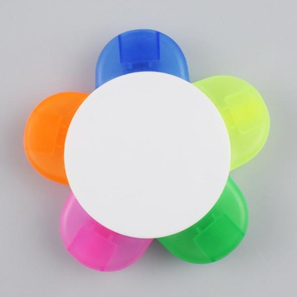 Flower Shape 5 Color Highlighter Marker