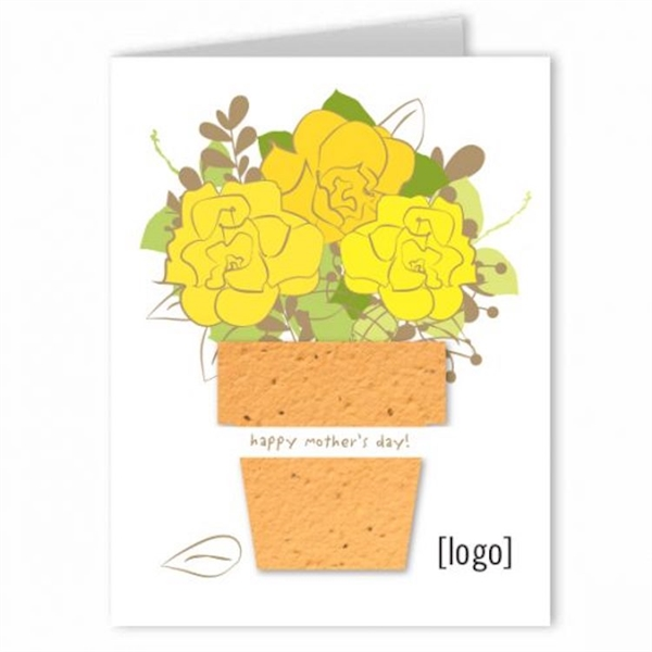 Mothers Day Seed Paper Shape Greeting Card