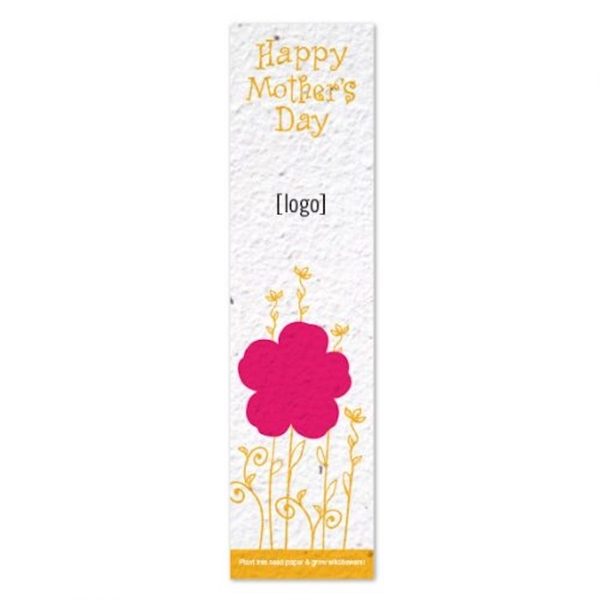 Mother's Day Seed Paper Bookmark
