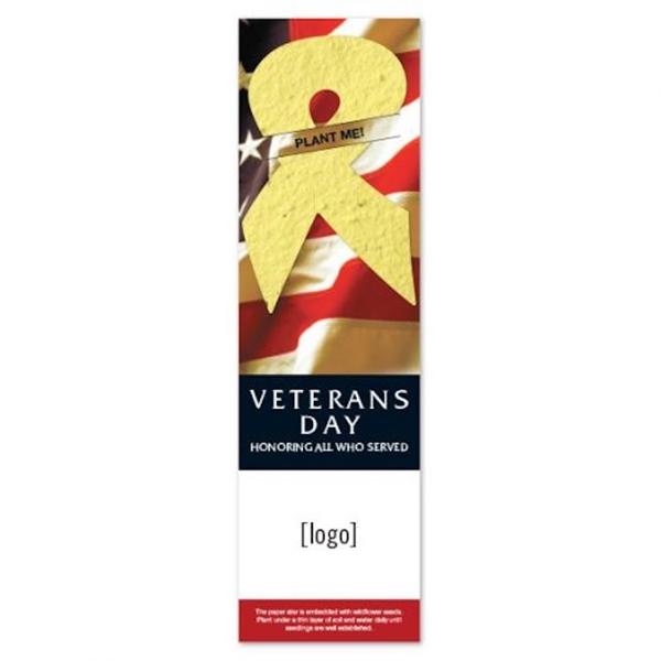 Patriotic Seed Paper Shape Bookmark