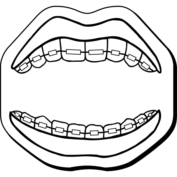 Mouth Stock Shape Magnet