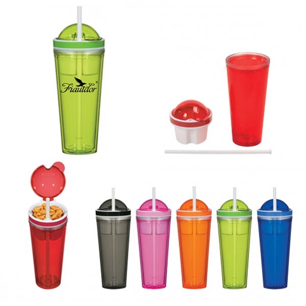 Tumbler With Snack Container