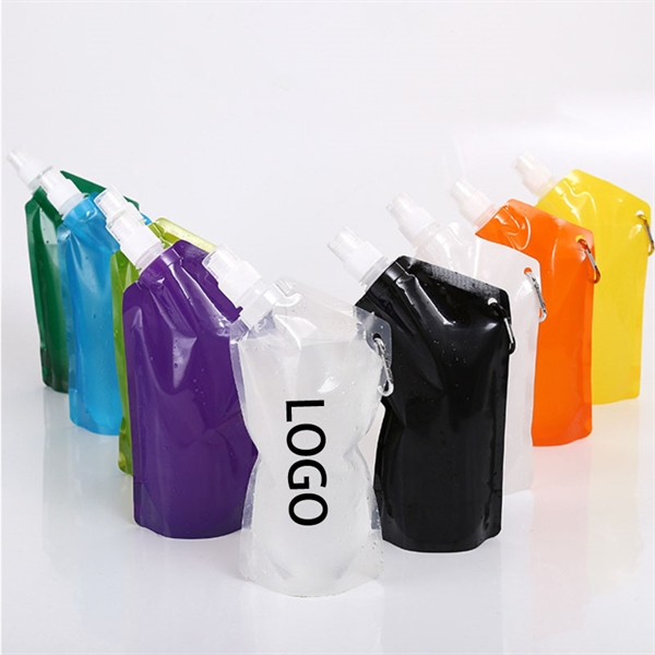 16oz Collapsible Portable Folding Water Bag Pouch Bottle