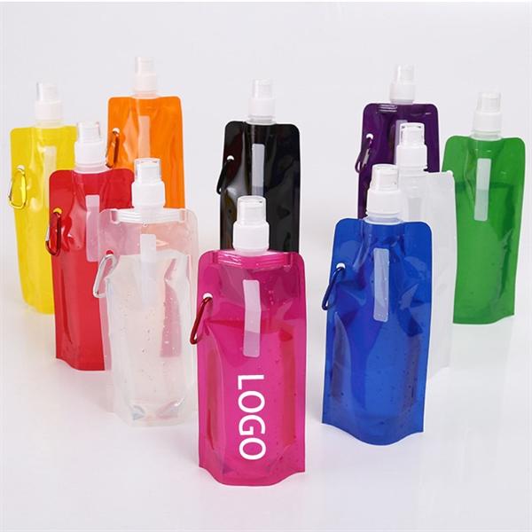 16oz Portable Foldable Water Bottle Bag