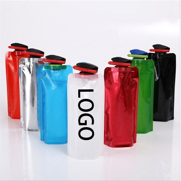24oz Portable Foldable Water Bottle Bag