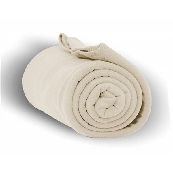 Fleece Throw Blanket - Cream