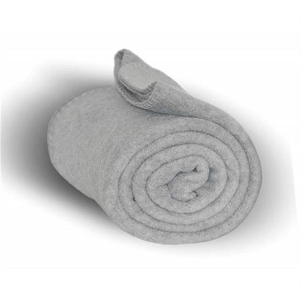 Fleece Throw Blanket - Heather Gray