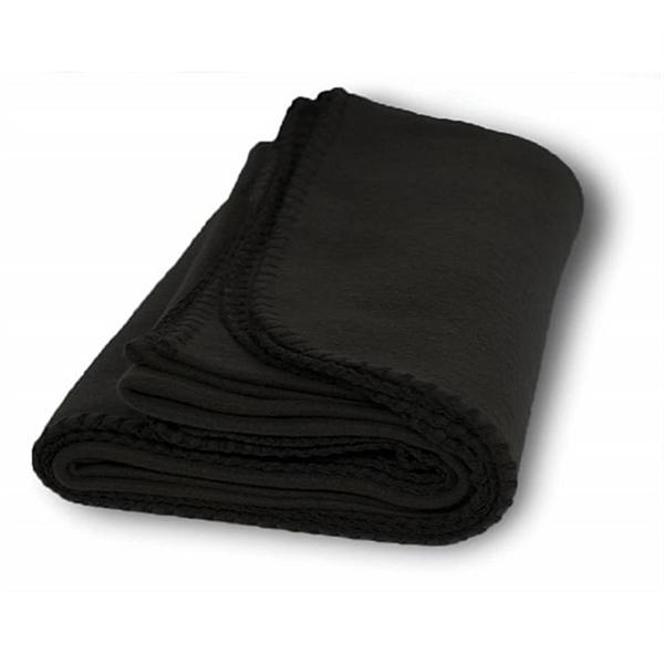 Budget Fleece Throw Blanket - Black