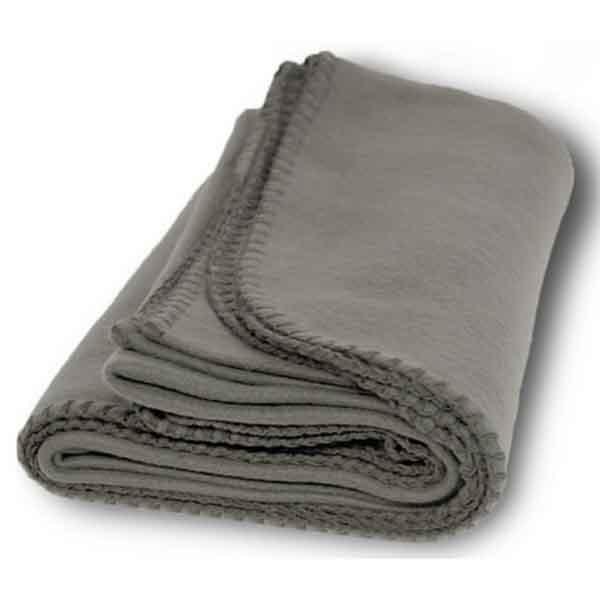 Budget Fleece Throw Blanket - Cinder