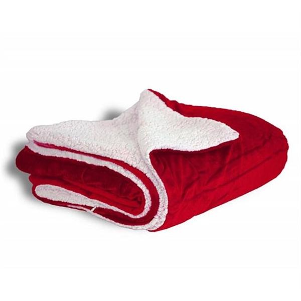 Micro Mink Sherpa Blanket - Red
