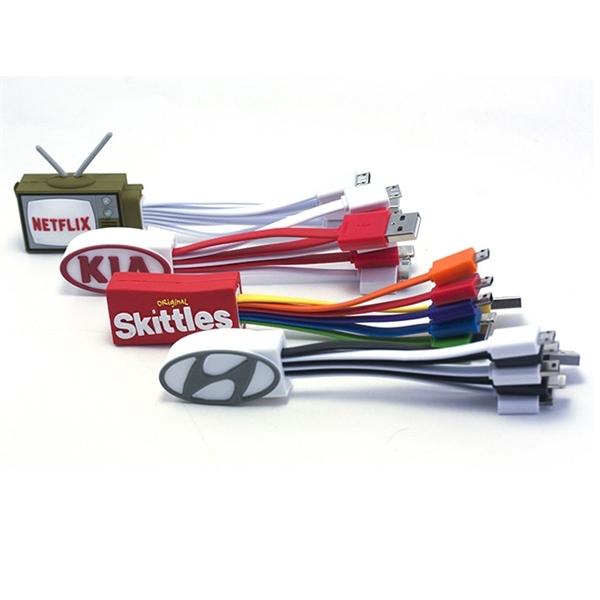Custom USB Cable 2D/ 3D soft pvc charging cable