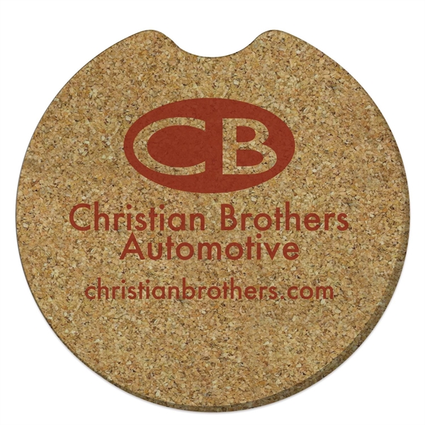 "Round Cork Car Coaster - 2 1/2"" dia."