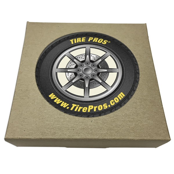 Set of 2 Round Absorbent Stone Car Coasters