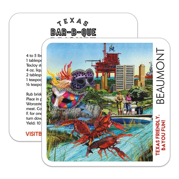 """Square Paperboard Coaster - 4""""x4"""""""