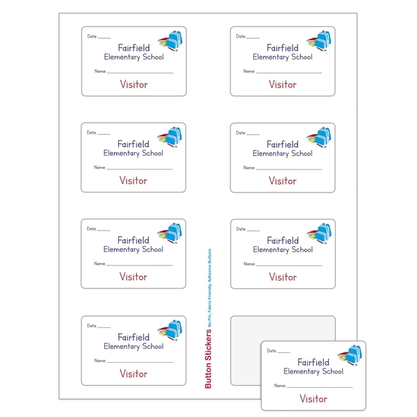 "Rectangle Sheeted Button Sticker Labels (2""x3"")"