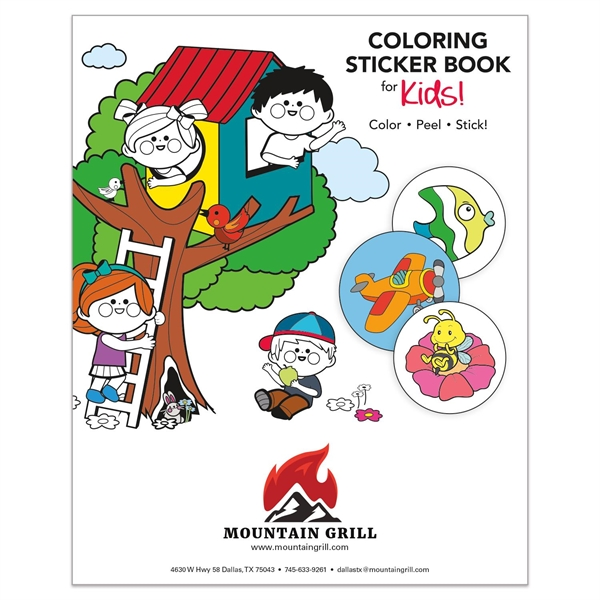 "Coloring Sticker Book for Kids (8 1/2"" x 11"")"