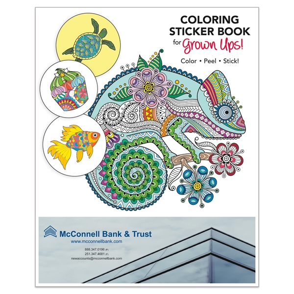 "Coloring Sticker Book for Grown Ups (8 1/2"" x 11"")"