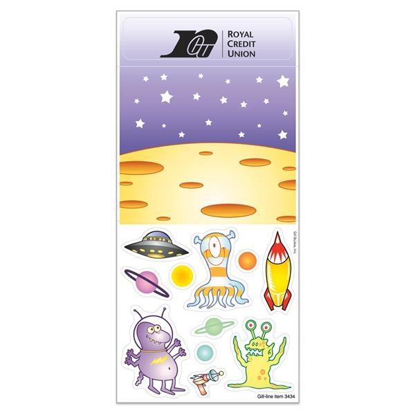 Peel N Play Sticker Sheet w/ Repositionable Space Alien