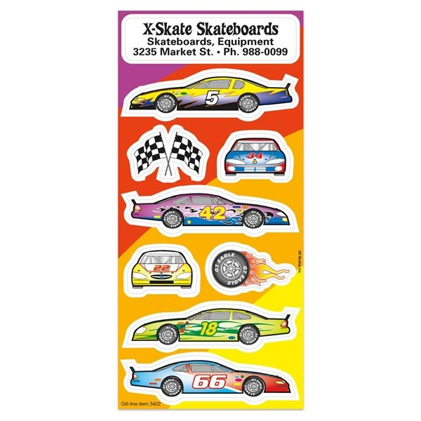 Race Car Fun & Fantasy Sticker Sheet