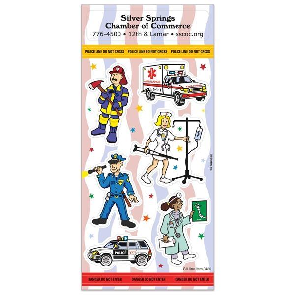 Police & Emergency Fun & Fantasy Sticker Sheet