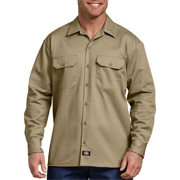 Dickies Men's Heavyweight Cotton Long Sleeve Shirt