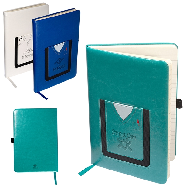 Leeman™ Medical-Themed Journal Book with Cell Phone Pocket