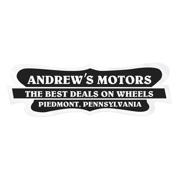 Stock Pointed Shield Clear Polyester Car-Cals Decal (1