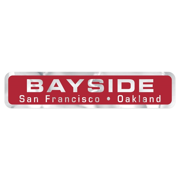 """Stock Rectangle Chrome Polyester Car-Cals Decal (1 1/4""""x5"""