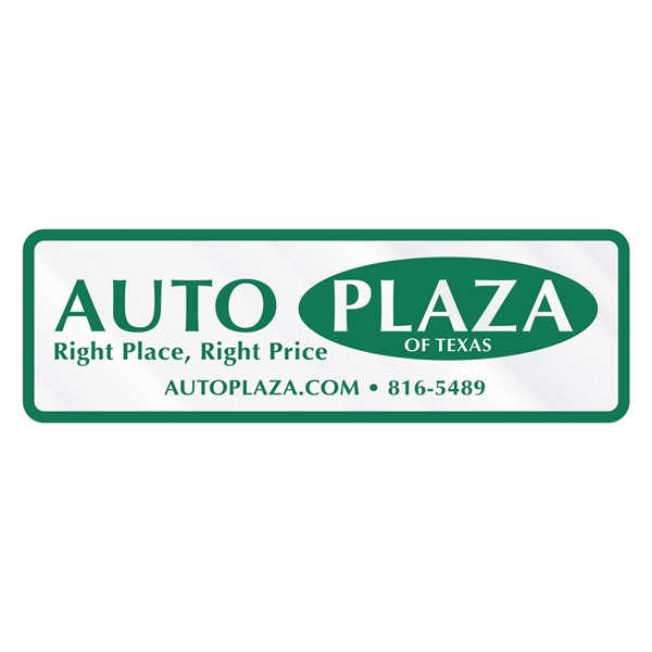 Stock Pointed Rectangle Clear Polyester Car-Cals Decal (1