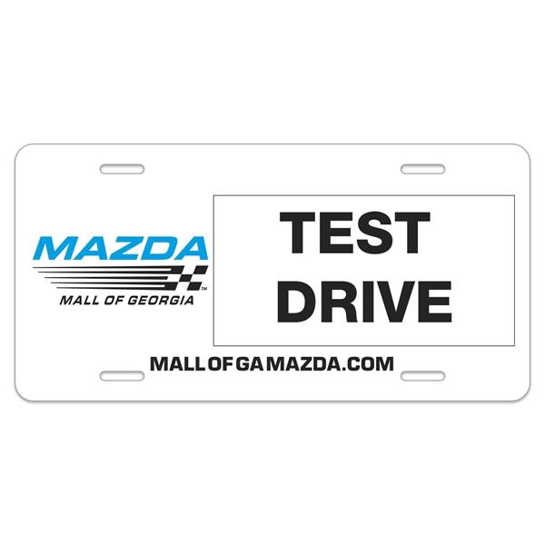 """Auto Card 0.055"""" Plastic License Plate (6""""x12"""")"""