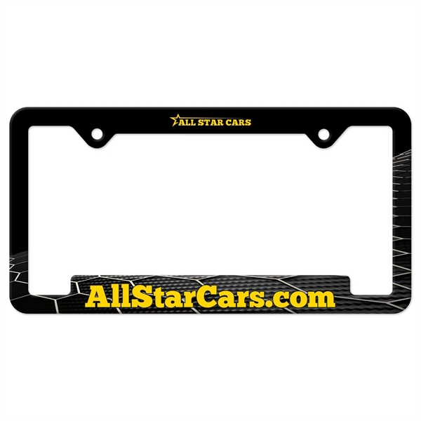 Auto License Frame Full Color w/ 2 Holes & Large Bottom