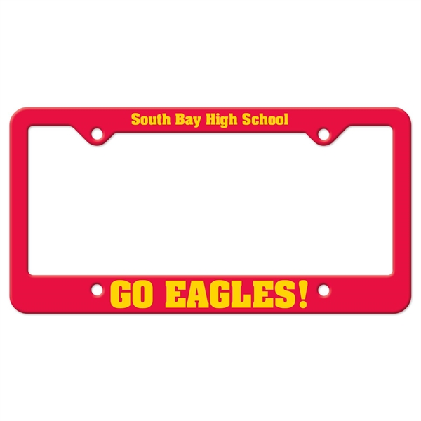 Auto License Frame w/ 4 Holes & Large Bottom Straight Panel