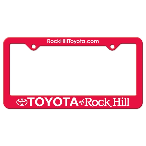 Auto License Frame w/ 2 Holes & Large Bottom