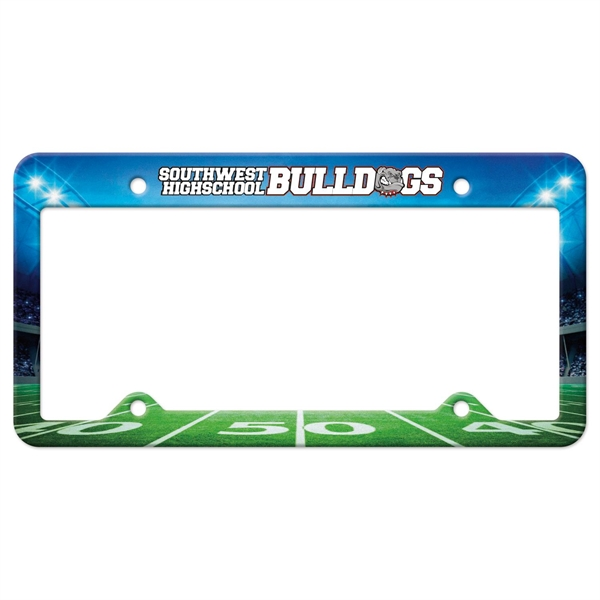 Auto License Frame Full Color w/ 4 Holes & Large Top