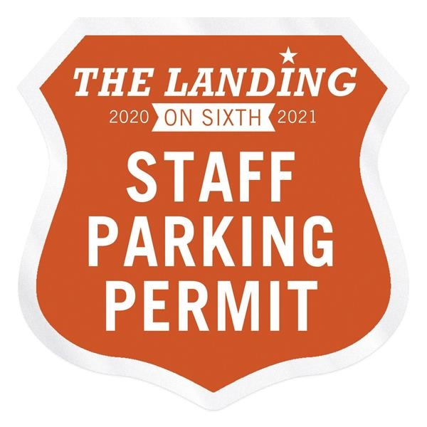 Shield Clear Static Numbered Inside Parking Permit Decal (2