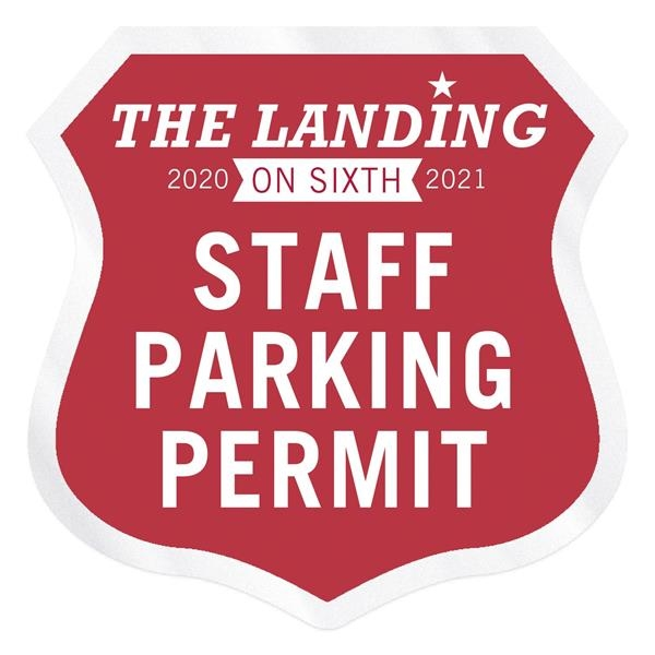Shield Clear Polyester Numbered Inside Parking Permit Decal
