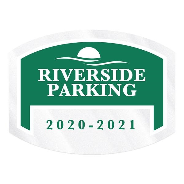 Curved Rectangle Clear Polyester Numbered Inside Parking