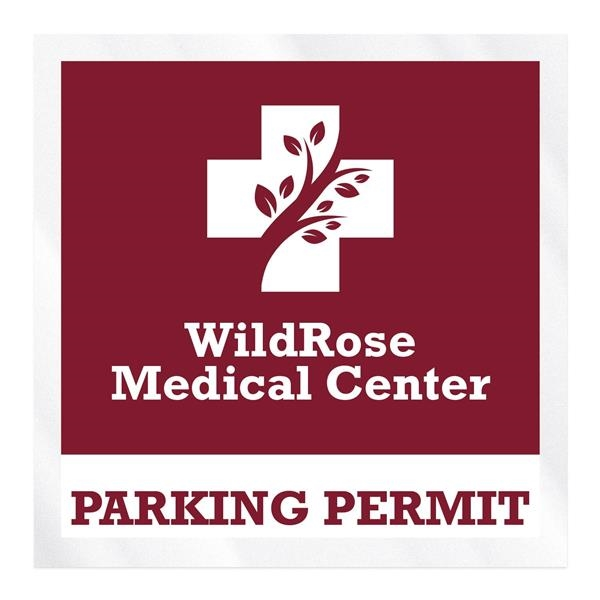 Square Clear Static Numbered Inside Parking Permit Decal