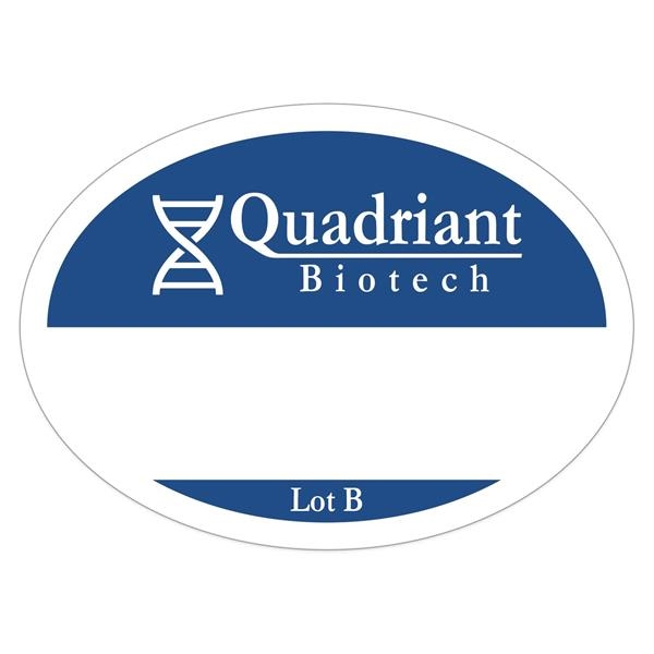 Oval White Vinyl Numbered Outside Parking Permit Decal