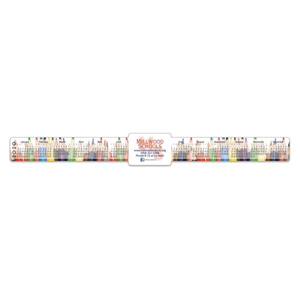"Keyboard/ Monitor Calendar w/ Rectangle Ad (1 1/2"" x 13"")"