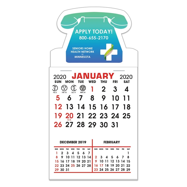 Stick It Decal 3 Month Calendar Pads - Telephone