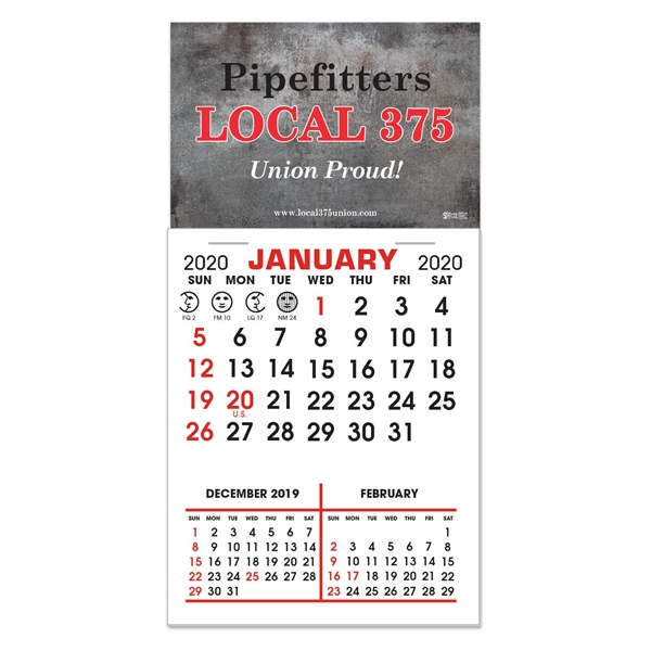Stick It Decal Calendar Pads - Rectangle w/Square