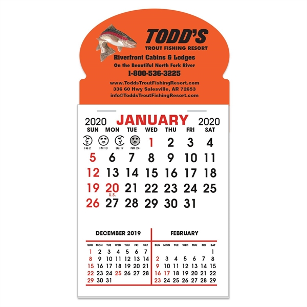 Stick It Decal 3 Month Calendar Pads - Oval w/ Bottom Strip