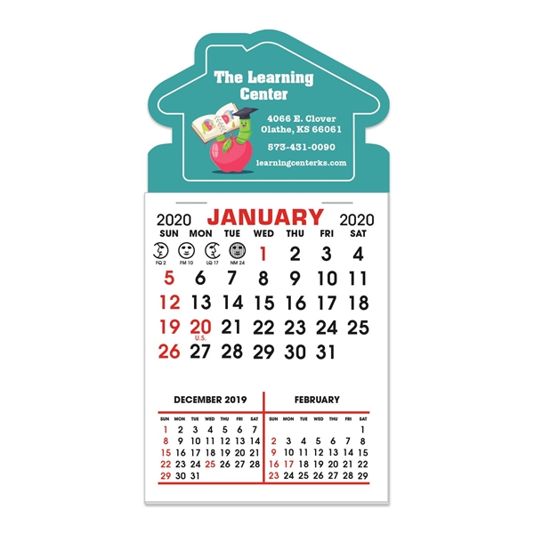 Stick It Decal 3 Month Calendar Pads - House