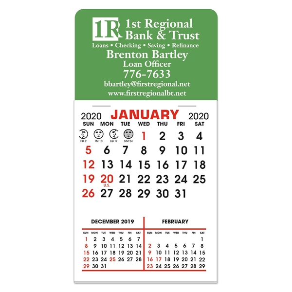 Stick It Decal Calendar Pads - Rectangle w/Rounded Corners