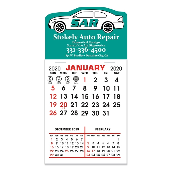 Stick It Decal 3 Month Calendar Pads - Car