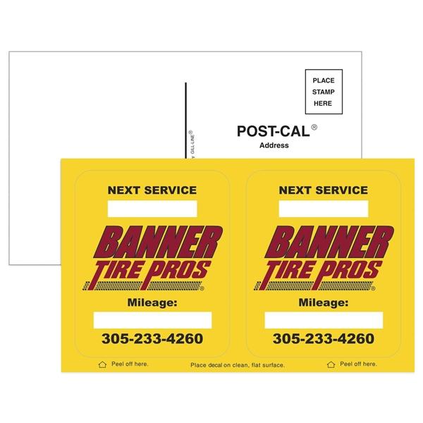 Post-Cals® Postcard w/ 2 Yellow Vinyl Rounded Corner