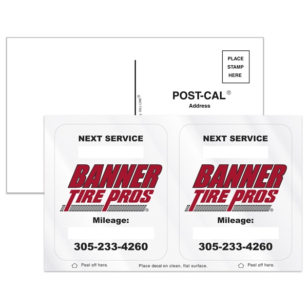 Post-Cals® Postcard w/ 2 Frost Clear Vinyl Rounded Corner