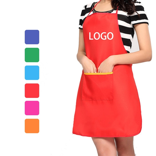Non-woven Fabrics Kitchen Cooking Apron with Pockets