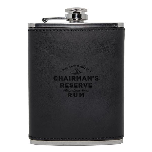 Black Leatherette Flask